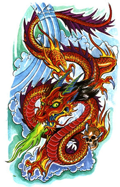 12 best images about fire dragon tattoos on pinterest powder chinese dragon and parlour. Black Bedroom Furniture Sets. Home Design Ideas