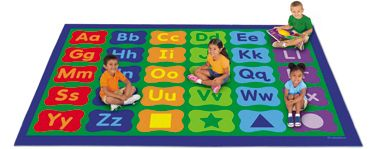 Probably a better idea for my classroom carpet because each student can be assigned their own letter, but the tree one just looks way cooler!
