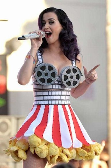 Katy Perry has the coolest costumes when she performs. Love the costume... and her buddy johny wujek
