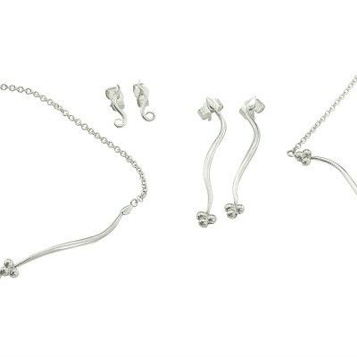 India Sideways necklace in silver
