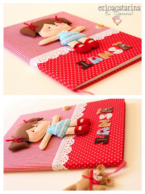 Caderno decorado by Ei menina! - Erica Catarina, via Flickr