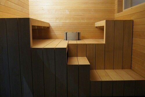 Asuntomessut 2015, Lämpölaude, Tulikivi, tervaleppä, saunan lauteet, design, moderni, sauna,