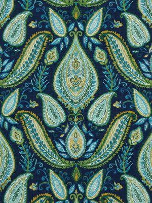 Paisley Upholstery Fabric Yardage   Peacock by PopDecorFabrics, $35.00