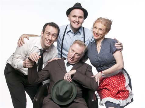 Death of a Salesman parody shut down after legal threats: Cast members of Loman Empire: The Sitcom, with writer Danny McGinlay at left. Image supplied