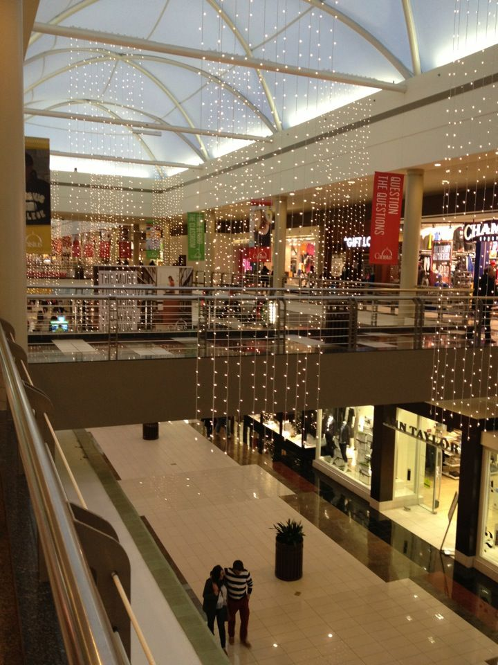Two levels of shopping mall!