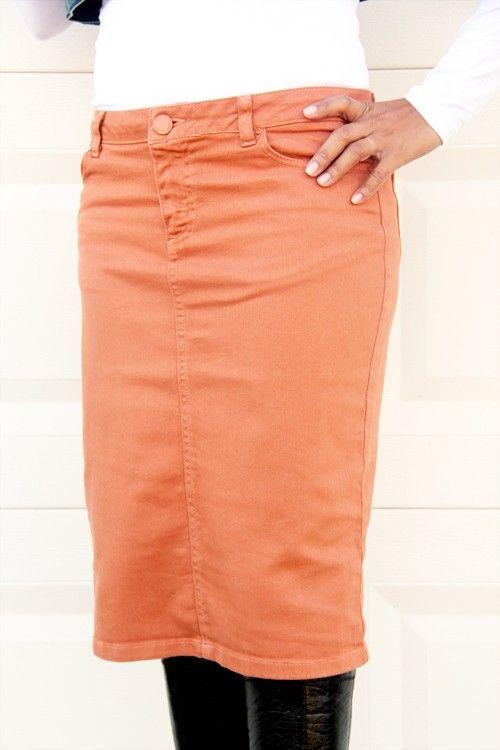 381 best Denim Skirt images on Pinterest