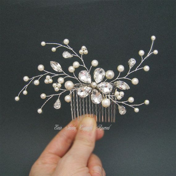 Pearl Bridal Hair Comb Wedding Hair Comb by adriajewelry on Etsy