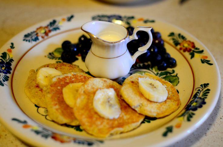 Placuszki bananowe z otrębami