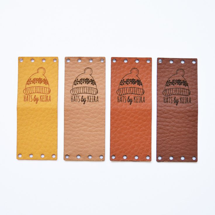 Faux Leather Labels, Fold Faux Leather Labels, Folding