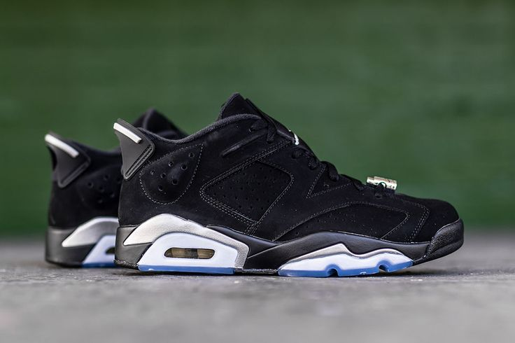 "Releasing: Air Jordan 6 Retro Low ""Black & Metallic Silver"""