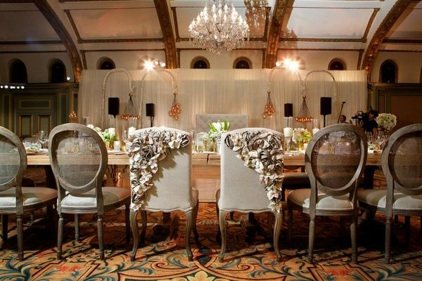 Ashley Hebert and J.P. Rosenbaum reception chairs
