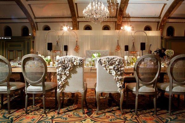 Ashley Hebert and J.P. Rosenbaum reception chairs