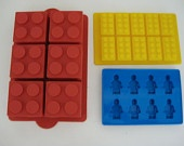 Treats & Favors - LEGO MINIFIGURE BRICK birthday party cake pan mold chocolate candy mold set - To make fun favors and treats for our Duplo party. #LegoDuploParty