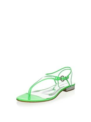 80% OFF Bernardo Women's Parker Triangle T-Strap Sandal (Lime)