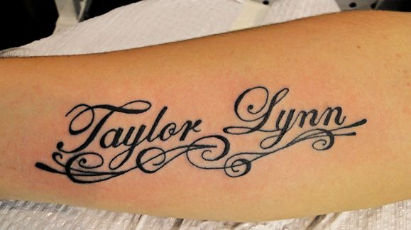 """Calligraphy Name Tattoo"" I'm just repinning this cause it's my name!! Hahaha"