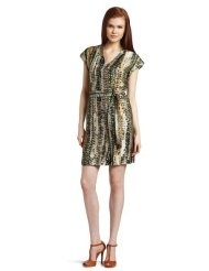 Kenneth Cole Womens Pebble Print Military Dress