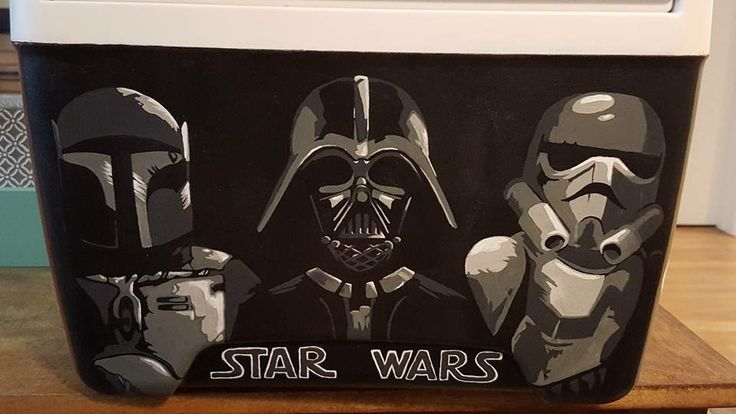 Star Wars painted cooler from Facebook group: Cooler Connection)