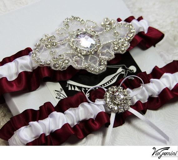 Luxury Wedding Garter Set Keepsake Toss By VioGemini 3999