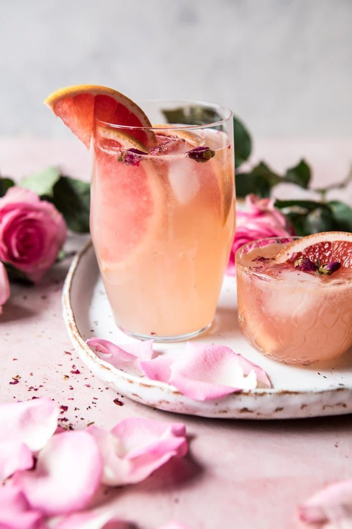 Rose and Ginger Paloma: Like any Paloma recipe, this one is easy. It's a simple mix of fresh grapefruit juice, lime juice, and tequila. What makes the drink special however is the addition of a little rose water and a good splash of gingerbeerFrom halfbakedharvest.com #tequiladrinks