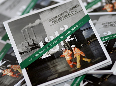 The #design solution: Aberthaw Works Centenary #book; a piece of history http://www.mark-making.com/work/aberthaw-works-centenary-book-a-piece-of-history. #graphic design