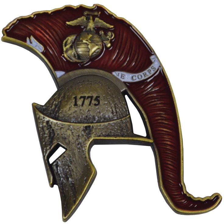 """Carry or display a coin that shows your USMC warrior spirit with our USMC Spartan Marine Corps Coin.  Get Yours Today!  Features:  Made of Pewter and Zinc metals. Measures: 1.5""""(W) x 2""""(T). 4mm thick. Double-sided. Deep 3D relief with metallic accents. Design displays the profile of a spartan helmet with the Marine Corps flag in the crest.  #SgtGrit #Marines"""