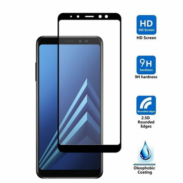 Protective Tempered Glass For Samsung A6 Plus 2018 Full Cover Screen Protector For Samsung Galaxy A8 2018 A8 Plus Samsung Galaxy Phone Screen Protector Samsung