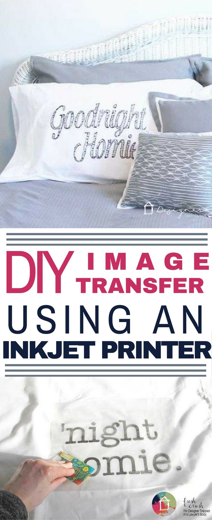 This is the most brilliant way to make DIY personalized pillow cases that I have seen! You don't need any fancy or expensive equipment or materials.