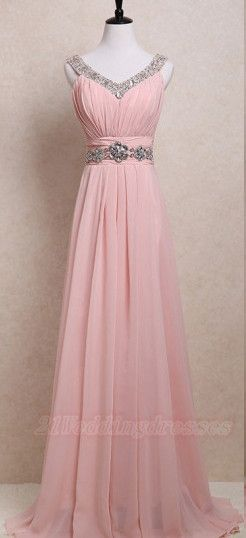 Pretty Pink Chiffon Beaded Prom Dresses For Teens,Modest Prom Gowns With Beading Belt  http://21weddingdresses.storenvy.com/products/16889334-pretty-pink-chiffon-beaded-prom-dresses-for-teens-modest-prom-gowns-with-bea