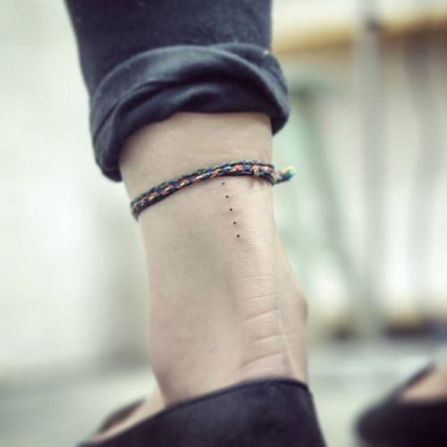 stickandpoketattoo: Five tiny dots tattooed on the Achilles... More