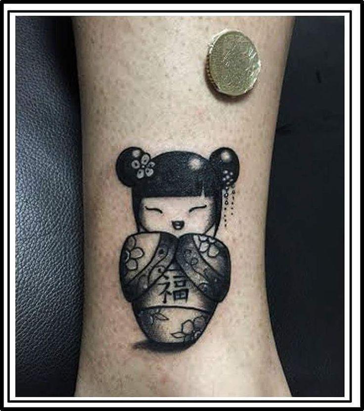#kokeshi #tattoo #kokeshitattoo #luck #blackworkerssubmission #blackartist #darkink #blacktattoo #blacklines