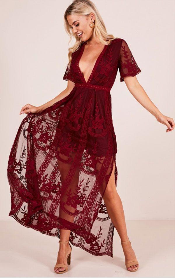 2fa007342f9d Love Spell Maxi Dress In Wine