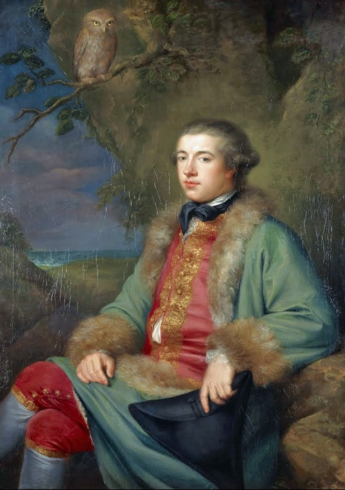 James Boswell, 1740-1795. Diarist & biographer of Dr Samuel Johnson, 1765, George Willison. Boswell's father feared he would be a complete failure. In 1763, under threat of disinheritance, sent to study law in Holland. Left to visit Berlin & Paris, meeting Rousseau & Voltaire & befriending Corsican nationalists. On return to Britain, he began a lifelong friendship with Samuel Johnson, a relationship immortalised in his biography, 'Life of Samuel Johnson'. Inherited title Laird of Auchinleck