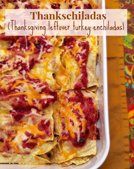 Thankschiladas! | Teaspoonofspice.com #leftovers #recipe #thanksgiving #enchiladas #easy #turkey