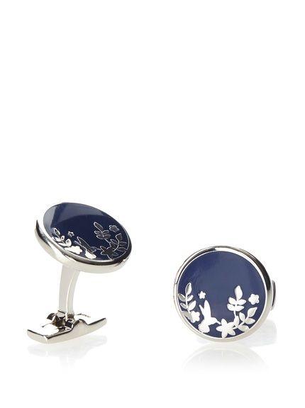 Duchamp Windsor Floral Silhouette Cufflinks at MYHABIT