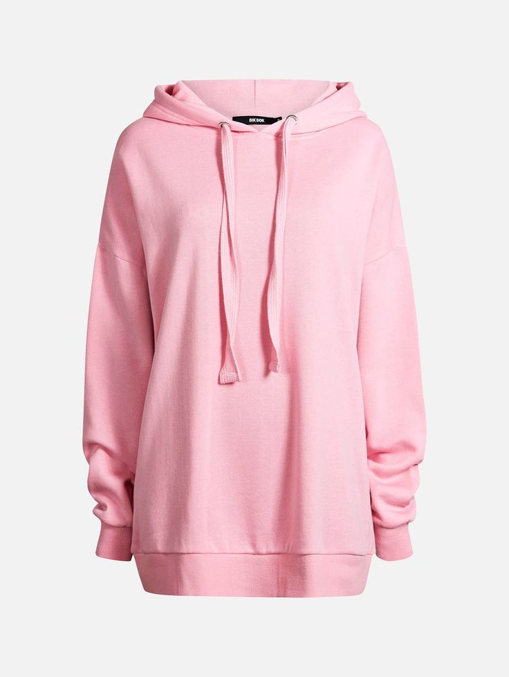 Oversized sweat hood. Brushed innside. Ribbed cuffs and bottom hem.  Rosa