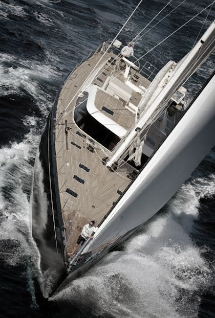 To sail down a coastline during the summer season Yachting