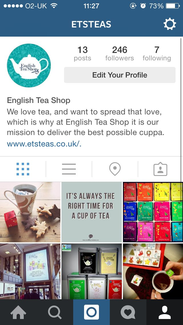 We're on Instagram! Are you following us? @Etsteas