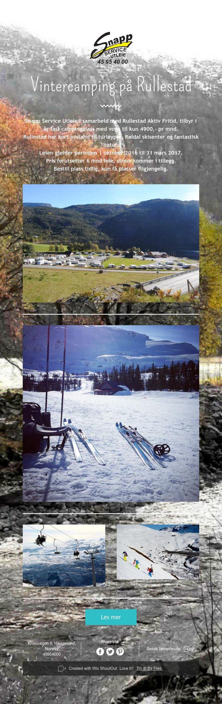 Vintercamping på Rullestad