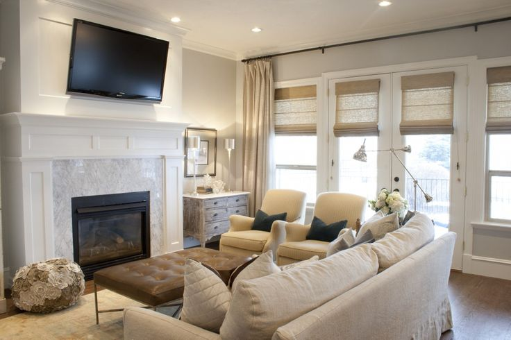 Neutral living room tv home ideas pinterest Shades of gray for living room