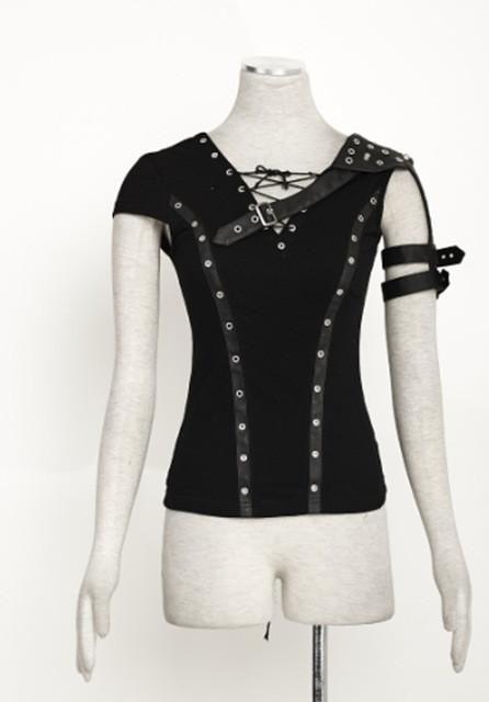 Punk Rock steam punk t shirt summer cotton cyber harajuku style