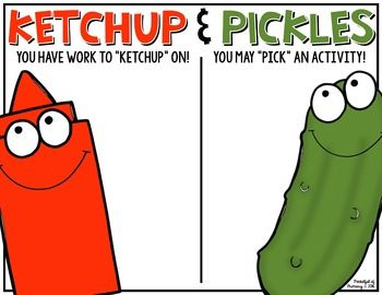 Ketchup and Pickles Poster   FREEBIE
