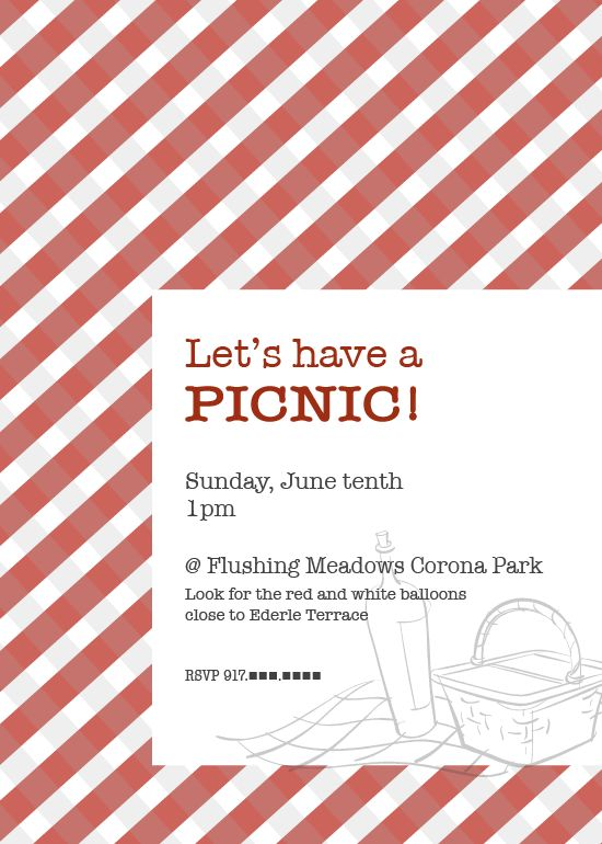 Picnic Invitation  Snick Snacks    Picnic Invitations