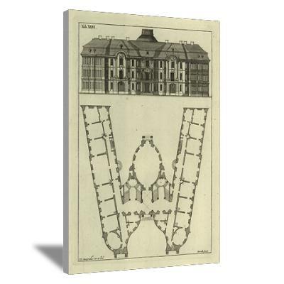 """W"" Architecture Monogram Canvas Art"