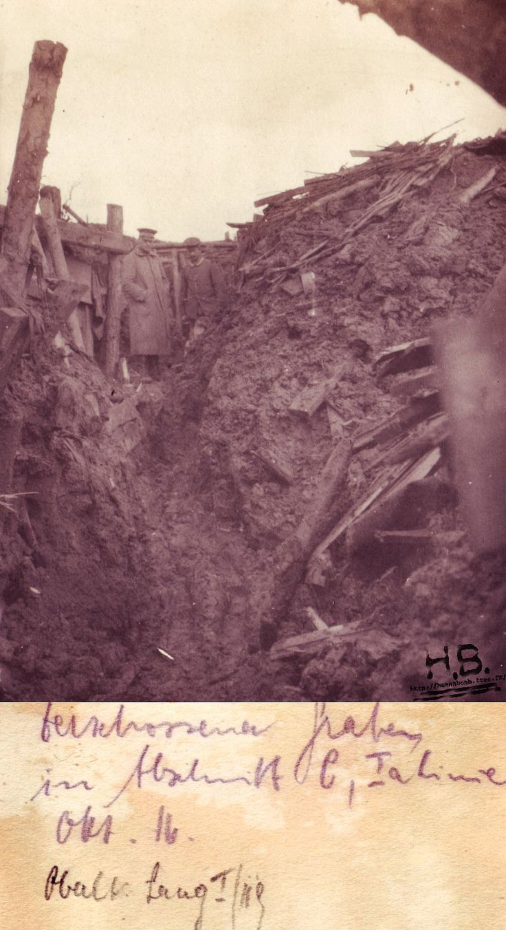 WWI, Oct 1916. Trench in Flanders. http://humanbonb.free.fr/Phototheque/images/phototheque/normal/66881231665.jpg