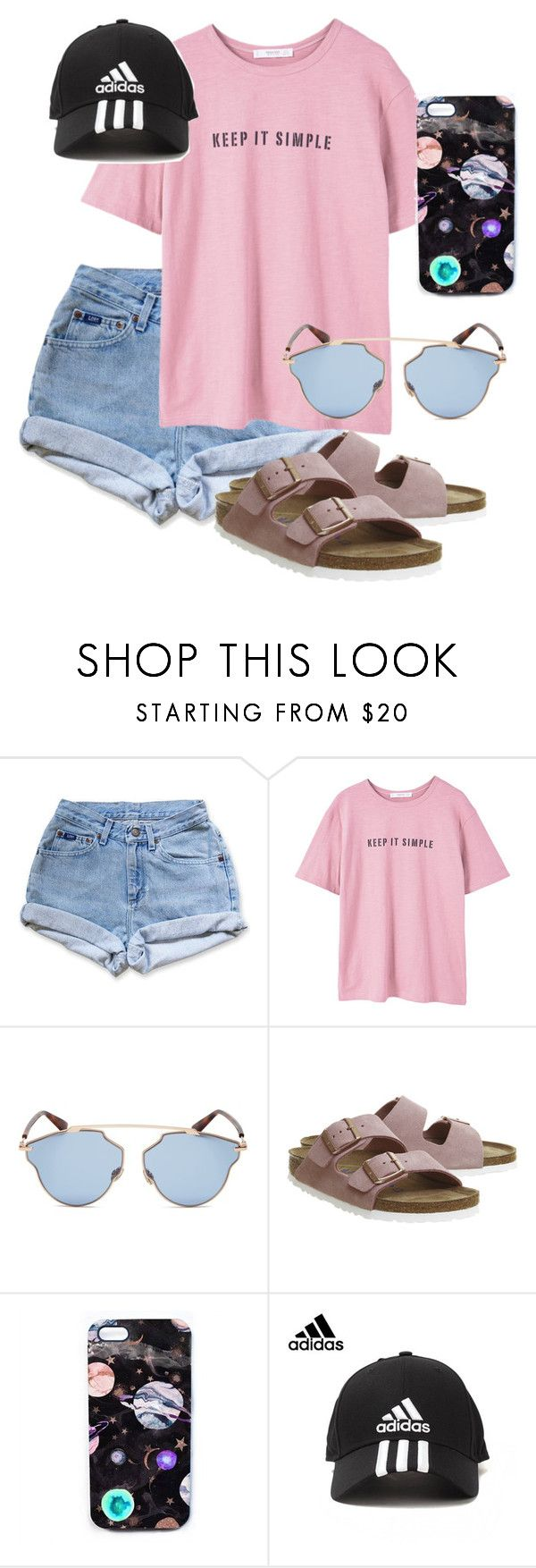 """What Should I Wear Today?"" by madisoncorell ❤ liked on Polyvore featuring Levi's, MANGO, Christian Dior, Birkenstock, Nikki Strange and adidas"