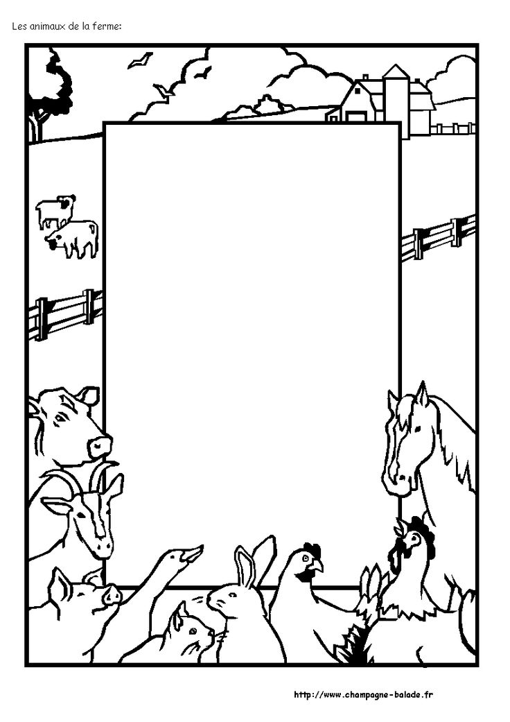 Coloriage animaux ferme farm activities - Dessin d animaux de la ferme ...