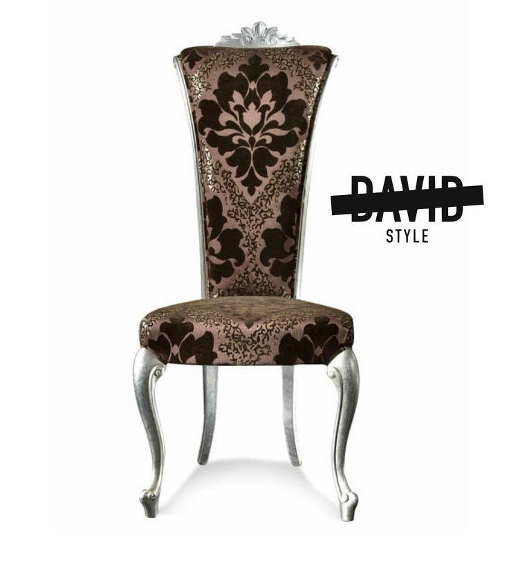 Baroque chair silver leaf Sedia barocco foglia argento #baroquechairsilverleaf #luxurychairmadeinitaly
