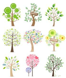 Cute Cartoon Tree PSD-AI Plant Vector Map Download | Lazy Drawing