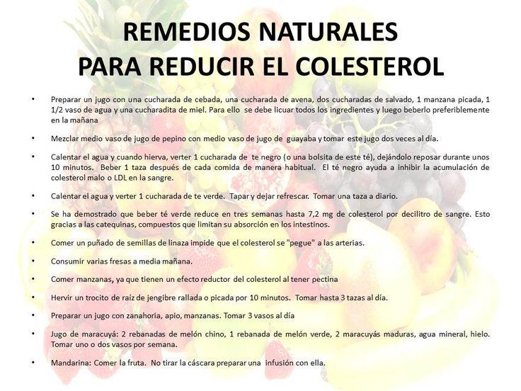 Remedios naturales para reducir el colesterol | SALUDABLE