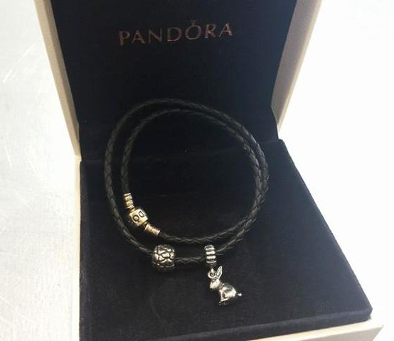 This #gorgeous #Pandora double rope bracelet is ONLY $25 at #PlatosBrampton PLUS pick up the charms for $25 or LESS! | www.platosclosetbrampton.com